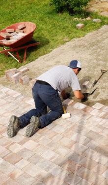 aanleg van terras