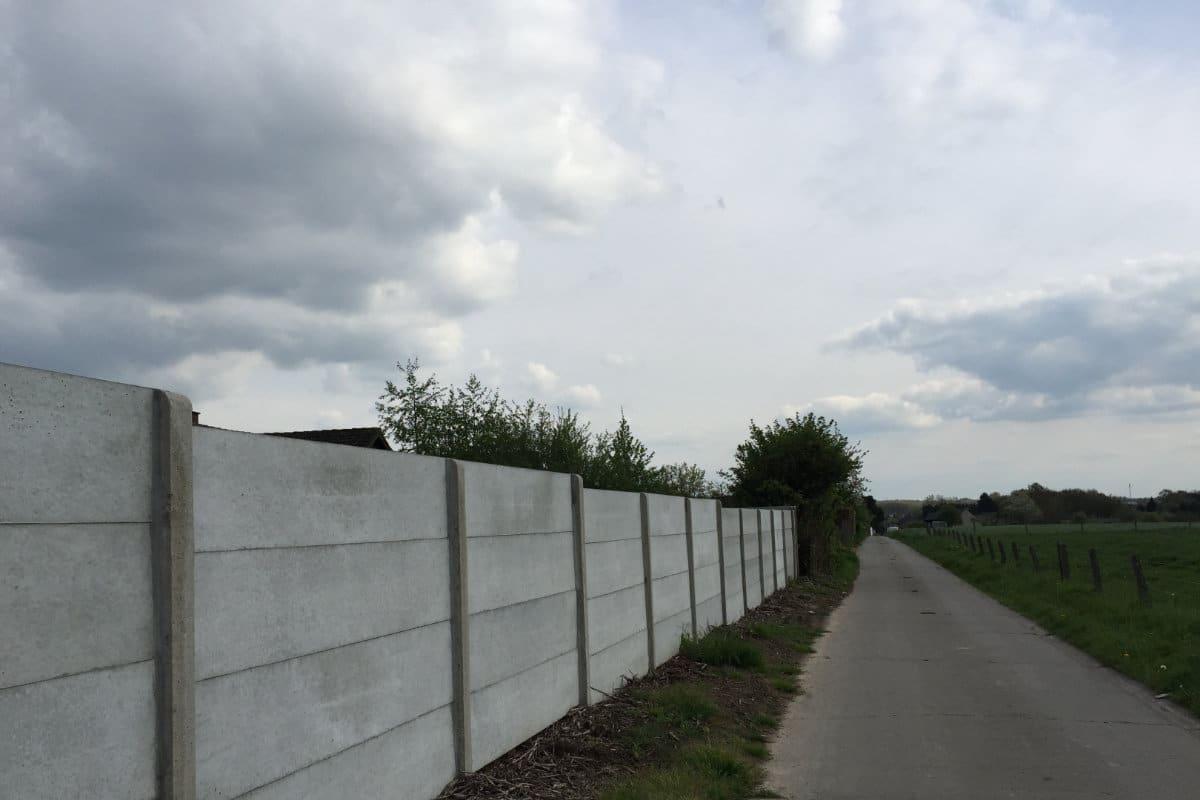 betonnen tuinafsluiting