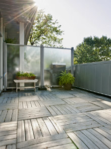 houten tegels terras