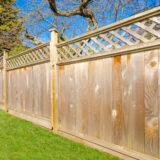 houten tuinafsluiting