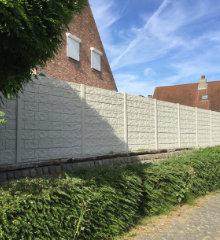 kunststof omheining betonlook